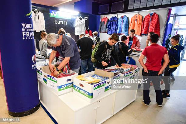 Shoppers at the Yonex outlet store during the Yonex Badminton French Open at Stade Pierre de Coubertin on October 25 2017 in Paris France
