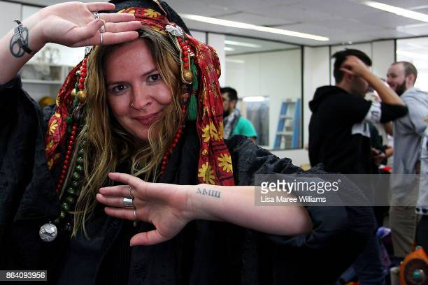 Shoppers attend a costume and clothing sale at The Opera Centre on October 21 2017 in Sydney Australia Opera Australia is making way for new costumes...