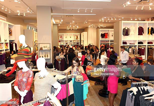 Shoppers attend Fashion's Night Out at the LOFT store 1230 Avenue of the Americas at 49th Street on September 6 2012 in New York City