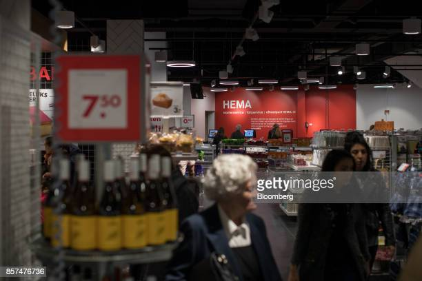 Shoppers browse inside a Hema BV store in Tilburg Netherlands on Wednesday Oct 4 2017 Privateequity firm Lion Capital LLP which bought the chain a...