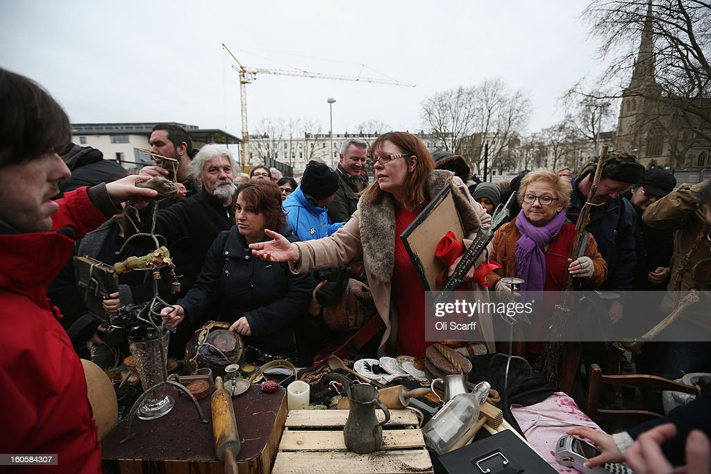 Shoppers buy props previously used in 'The London Dungeon' which are sold at a car boot sale in Pimlico as the attraction prepares to move to new premises on the Southbank, on February 3, 2013 in London, England. The sale features a selection of torture and surgical implements, costumes, plague doctor's potions, false eyeballs, severed limbs, and a set of stocks. The London Dungeon will reopen in March 2013 in larger premises on the Thames' Southbank, having moved from Tooley Street where it originally opened 38 years ago.