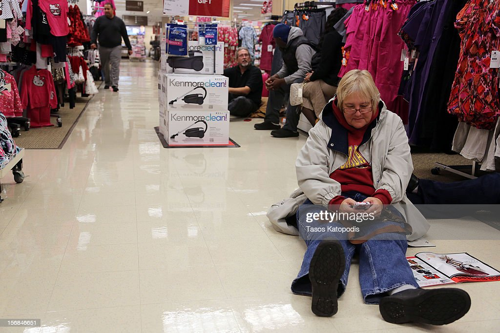Shoppers came out early at Sears for the 4am doorbuster deals on Thanksgiving night November 22, 2012 in Highland, Indiana. Many stores got a head start on the traditional Black Friday sales by opening on Thanksgiving.