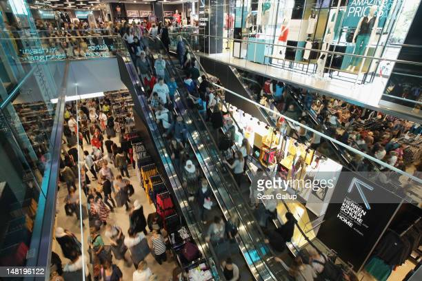 Shoppers crowd a Primark clothing store a day after the store's opening on July 12 2012 in Berlin Germany Primark is expanding aggressively in...