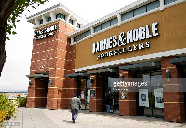 Shoppers enter a Barnes Noble Inc store in San Bruno California US on Friday Aug 17 2012 Barnes Noble Inc the largest US bookstore chain is scheduled...