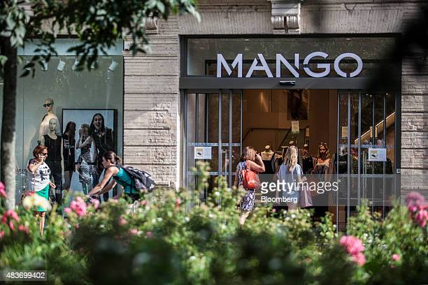 Shoppers enter a Mango fashion store in Toulouse France on Tuesday Aug 11 2015 Reports on Friday will probably show output in the 19nation bloc...