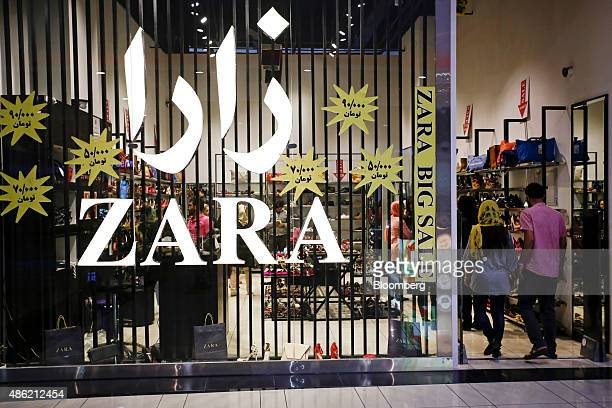 Shoppers enter a Zara fashion store operated by Inditex SA inside the Isfahan City Center shopping mall in Isfahan Iran on Friday Aug 28 2015 Iran's...