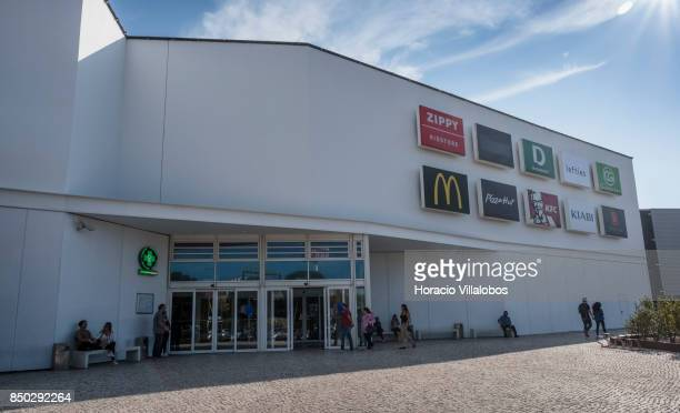 Shoppers enter Forum Sintra one of four commercial centers owned by The Blackstone Group in Lisbon region on September 20 2017 in Sintra Portugal...