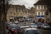 Shoppers fill the main shopping street in the constituency of Conservative party leader David Cameron on February 13 2010 in Witney England As the UK...