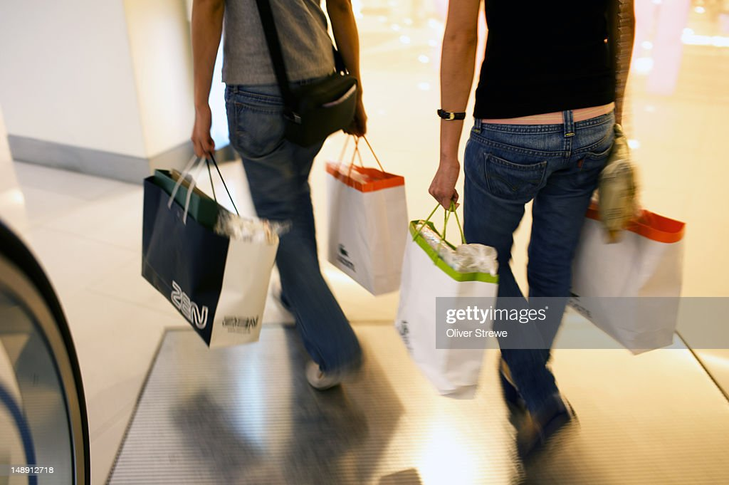 Shoppers in department store. : Stock Photo