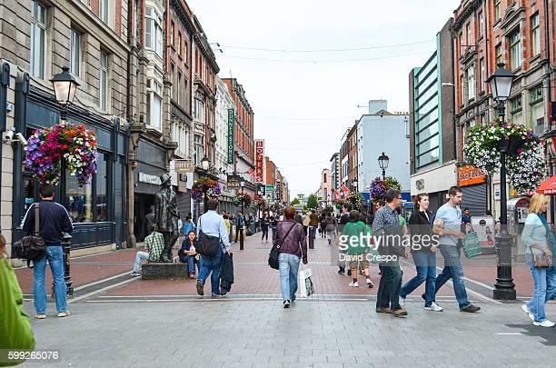 Shoppers in Grafton Street, Dublin