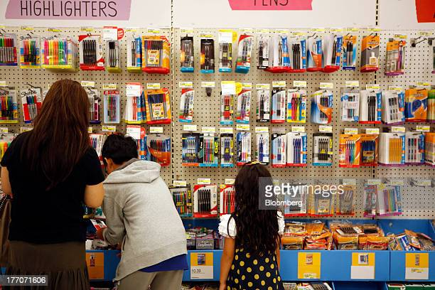 Shoppers in the back to school section inside the Target Corp Store in Torrance California US on Tuesday August 20 2013 Target is expected to...