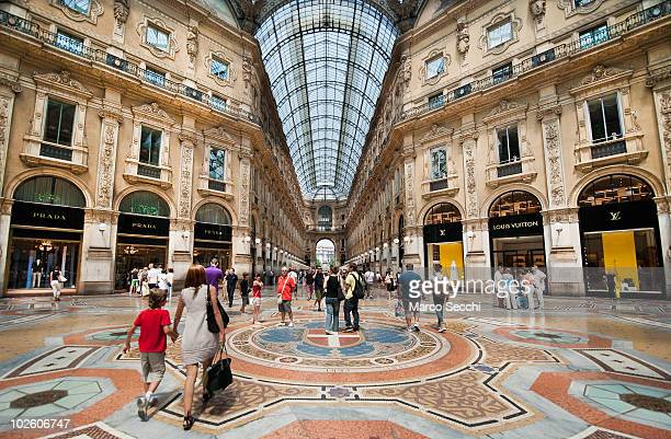 Shoppers in the Galleria Vittorio Emanuele II in Milan on the first day of the Summer Sales on July 3 2010 in Milan Italy Milan's summer sales start...