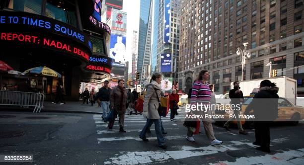 Shoppers in Times Square New York