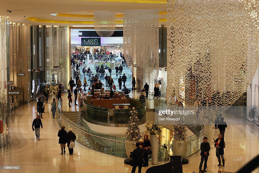 Shoppers make their way through Westfield Shopping centre in West London on December 22, 2012 in London, England. Today is the final Saturday before Christmas.