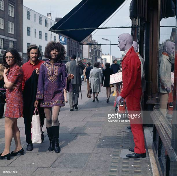 Shoppers on the King's Road Chelsea London circa 1968