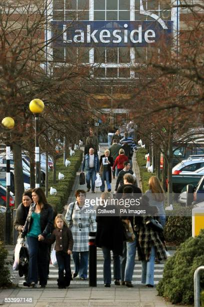 Shoppers outside Lakeside shopping centre in Essex where crowds were out in force with less than two weeks before Christmas