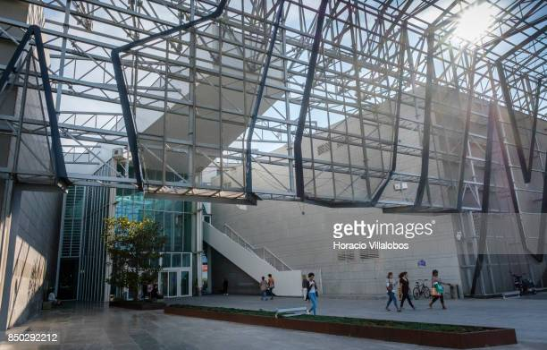 Shoppers seen outside Forum Sintra one of four commercial centers owned by The Blackstone Group in Lisbon region on September 20 2017 in Sintra...