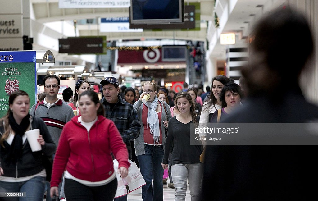 Shoppers take advantage of Black Friday sales at the South Shore Plaza on November 23, 2012 in Braintree, Massachusetts. Black Friday, the start of the holiday shopping season, has traditionally been the busiest shopping day in the United States.