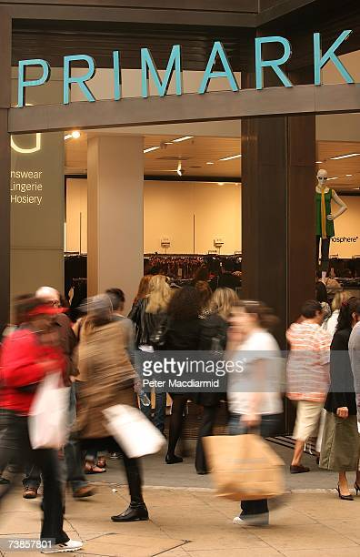 Shoppers visit the newly opened Primark clothing store on Oxford Street on April 11 2007 in London England Police were called on the opening day of...