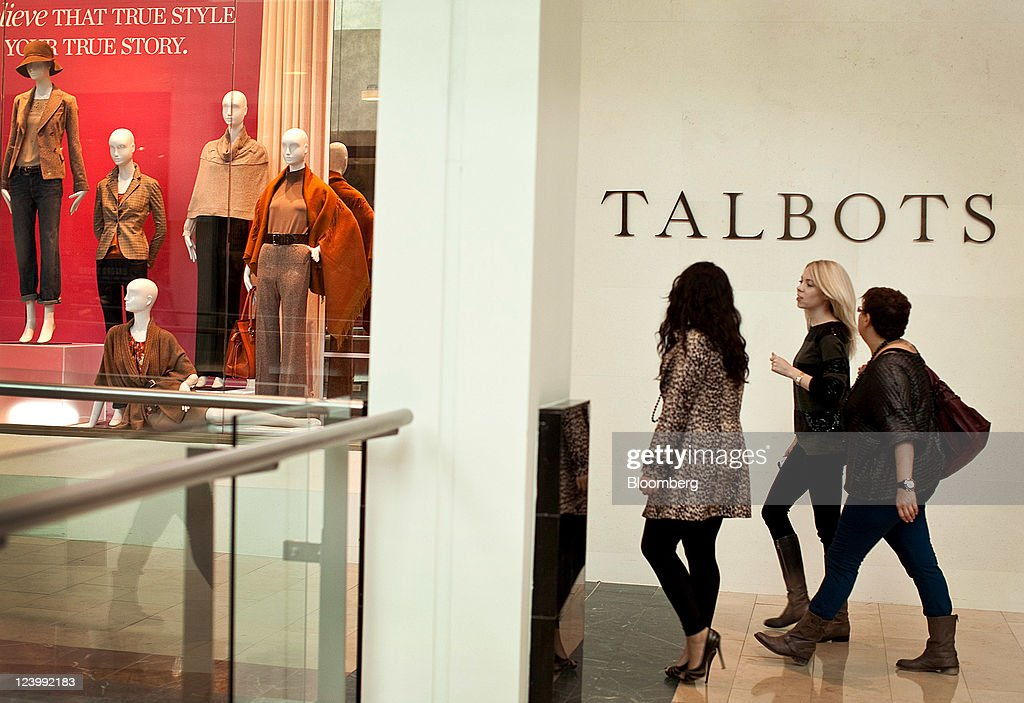 Shoppers Walk Past A Talbots Inc. Store In The Westfield Garden State Plaza  Mall In