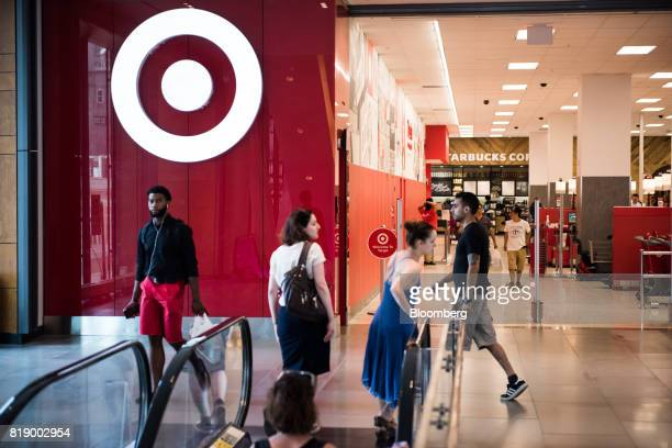 Shoppers walk past a Target Corp store at City Point in the Brooklyn borough of New York US on Tuesday July 18 2017 Bloomberg is scheduled to release...