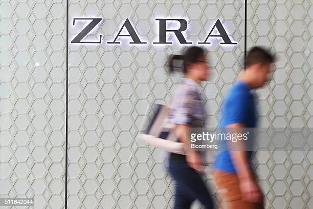 Shoppers walk past a Zara fashion store operated by Inditex SA inside the Westfield Sydney shopping center operated by Scentre Group in Sydney...