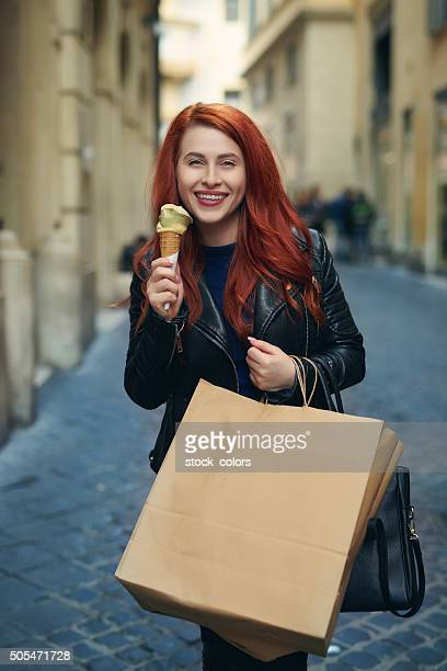 shopping and ice cream