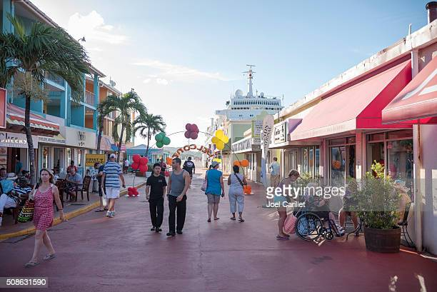 Shopping area in port of St. John's, Antigua