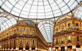 Shopping art gallery in Milan. Galleria Vittorio Emanuele II, Italy