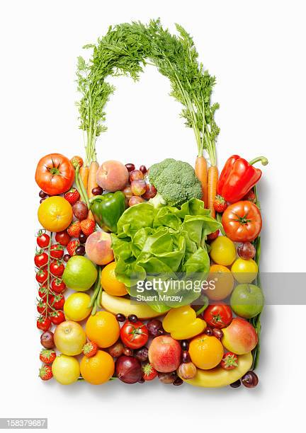 Shopping bag made from fruit and vegetables
