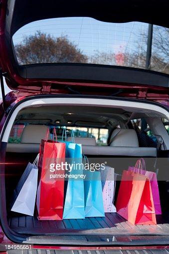 Shopping Bags in a Car