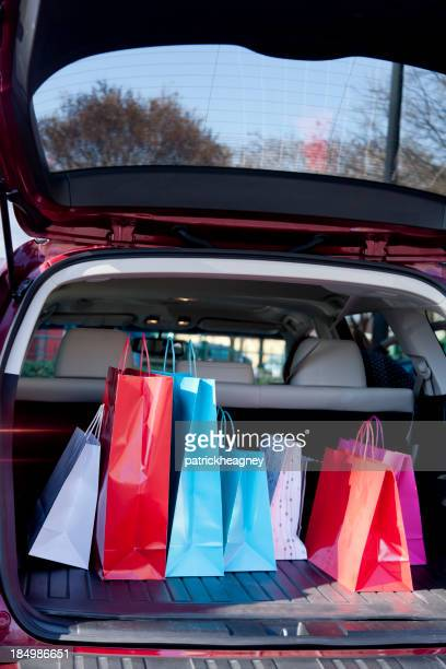 Shopping Bags in a Car