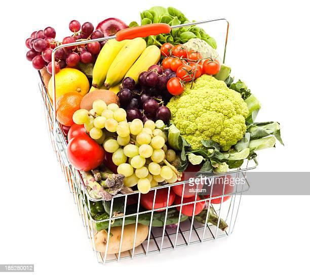 Panier avec des fruits et légumes