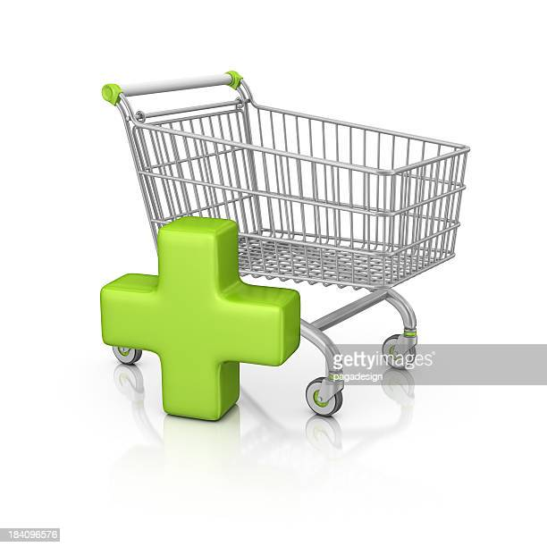 shopping cart and add sign