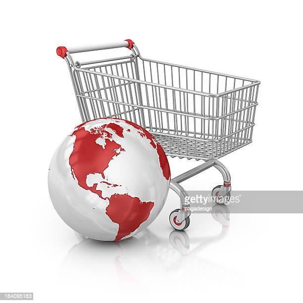 shopping cart and earth