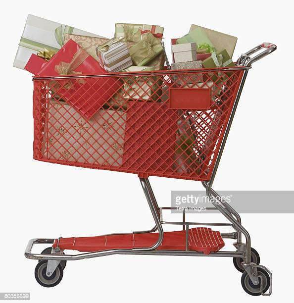Shopping cart full of gifts