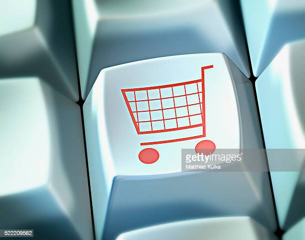 Shopping Cart on Computer Keyboard Button