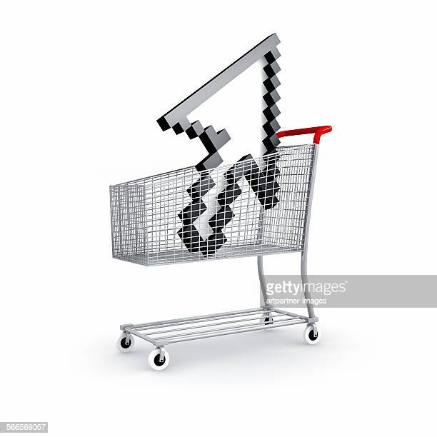 Shopping cart with arrowsymbol