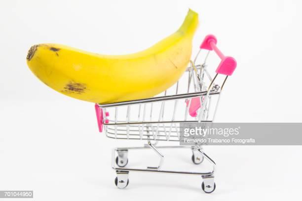 Shopping cart with banana