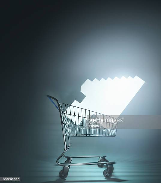 Shopping Cart With Glowing Cursor