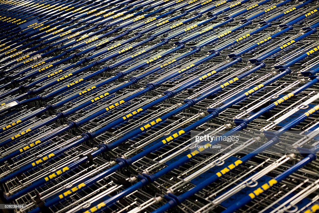 Shopping carts inside Ikea's newest store in the Red Hook section of Brooklyn