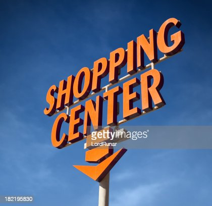 Shopping center sign