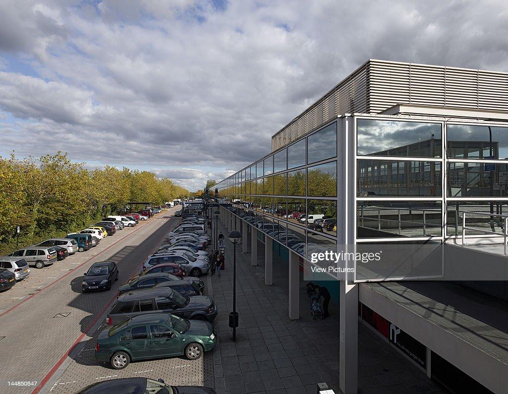Shopping Centre, 24 Silbury Arcade, Milton Keynes, Buckinghamshire, United Kingdom, Architect: Derek Walker, 1979, Shopping Centre, Derek Walker Architects, Milton Keynes, Uk, 1979, View With Parked Cars