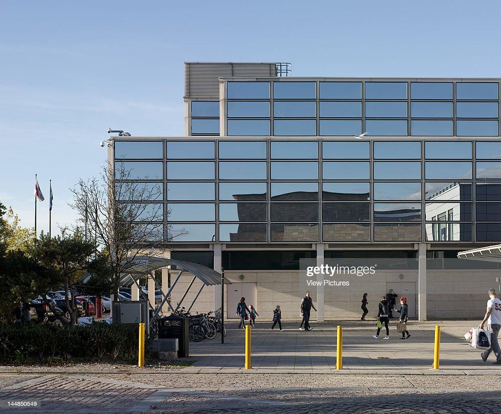 Shopping Centre, 24 Silbury Arcade, Milton Keynes, Buckinghamshire, United Kingdom, Architect: Derek Walker, 1979, Shopping Centre, Derek Walker Architects, Milton Keynes, Uk, 1979, Reflective Glass Facade