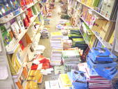 Shopping centres like 'El Corte Ingles' prepared for the school year Textbooks