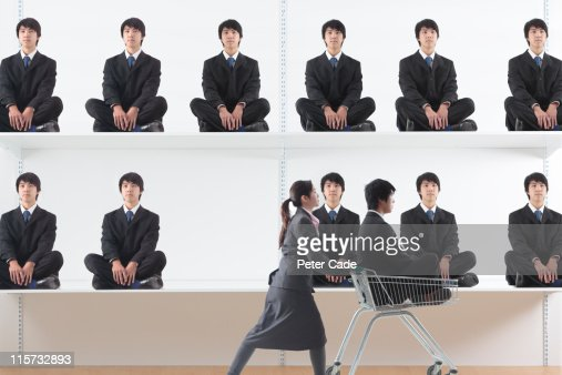 Shopping for a man : Stock Photo