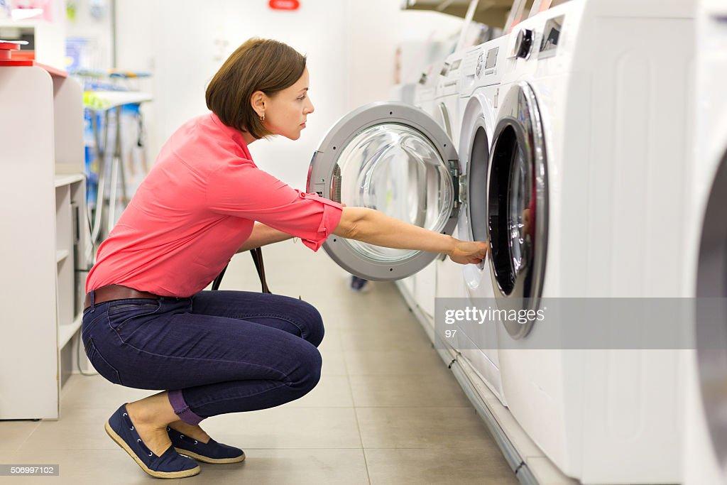 Boutiques d'un lave-linge et sèche-linge : Photo