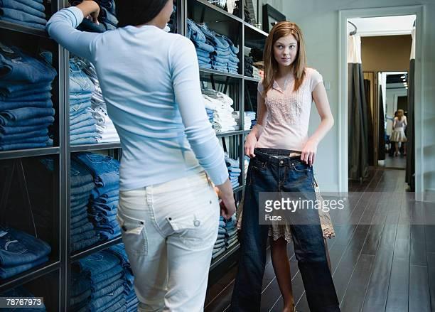 Shopping for Denim Jeans