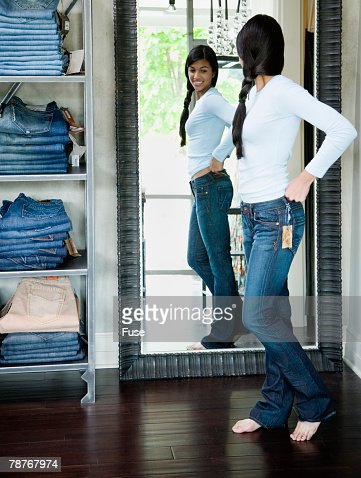 Shopping For Denim Jeans Stock Photo | Getty Images