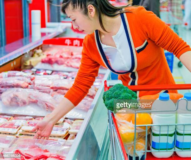 shopping for meat